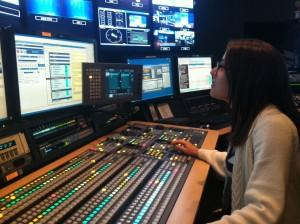 Jill working as Technical Director at NY1 News (2015)
